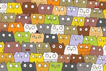 Можете ли да откриете пандата и котката?