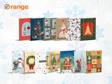 Нова серия дарителски коледни картички от Orange center в подкрепа на УНИЦЕФ